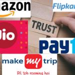 amazon, Flipkart, Flipkart-Walmart Deal, makemytrip, Online Travel, Paytm, Ola, Uber, Shopclues, Snapdeal, E-Commerce, Indian Brands, Global Brands, Most Trusted Brands