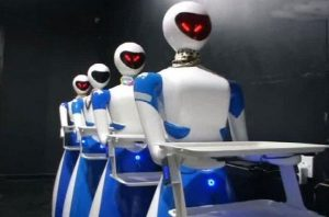 Robot, Robo Chef Restaurant, Smart Restaurant, Robots Serve Customers At Restaurant, Odisha, Bhubaneswar, SLAM Technology, Virtual Reality, Artificial Intelligence